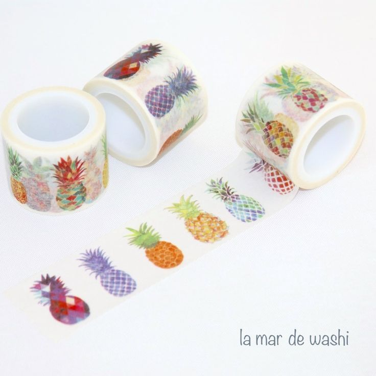 Washi Tape piñas coloridas