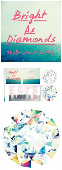 bright color pop album design album artwork hot pink teal beach color scheme diamond graphic