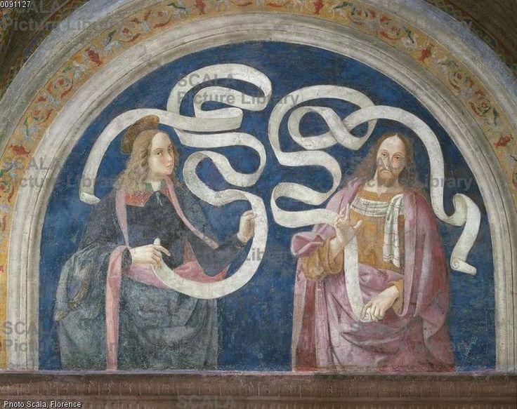 Pier Matteo d'Amelia (c. 1450-1503\8) - Thaddaeus and Zechariah - affresco - 1492-1494 - Sala del Credo - Appartamento Borgia - Palazzo Apostolico della Città del Vaticano - Musei Vaticani