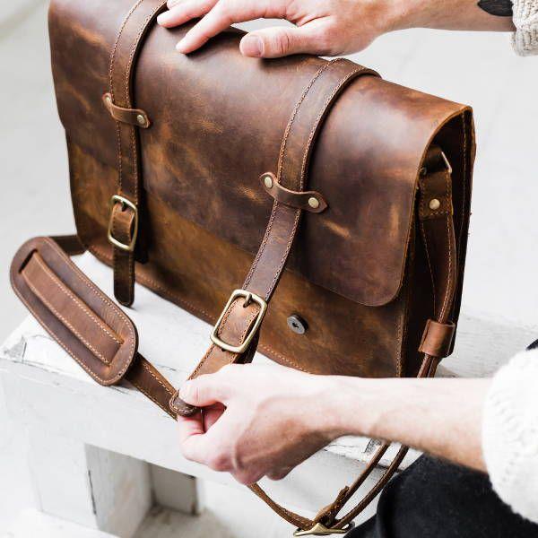Shop Mens Bags Messenger Bag Leather Messenger