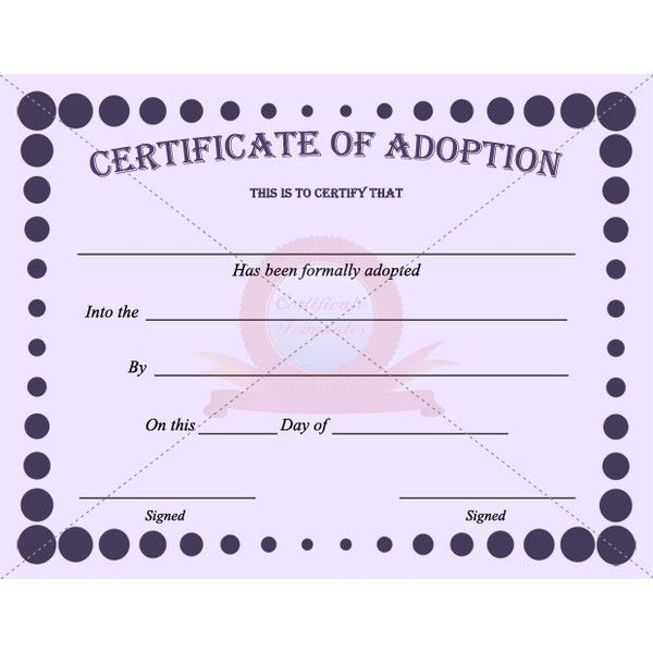 Best Adoption Certificate Templates Images On