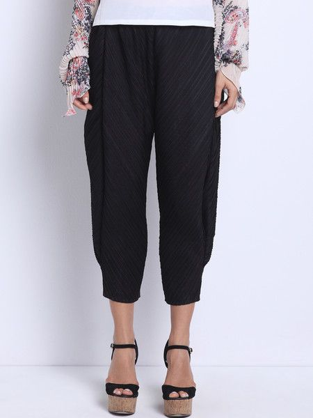 Draped jersey Crepe Wide Leg pant