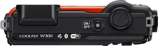 Nikon Canada COOLPIX W300 Rugged Compact Camera (orange): 4K UHD Video; 16-MP Backside Illuminated CMOS Sensor; Low-Light Shooting; Waterproof, Shockproof, Freezeproof & Dustproof; 5x Optical Zoom Wide-Angle Lens; Built-in Wi-Fi and Bluetooth; Onboard GPS, eCompass, Altimeter, Depth Gauge  https://www.photoxels.com/nikon-coolpix-w300/