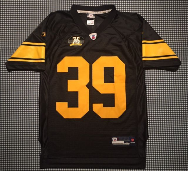 0d9bac55d7e ... Willie Parker Pittsburgh Steelers 75th Anniversary Replica Jersey Size  YL Reebok ...