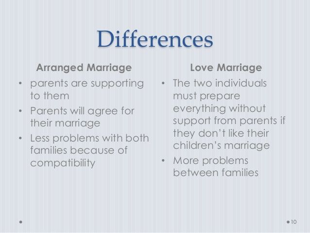 difference between love marriage and arranged marriage - Google Search