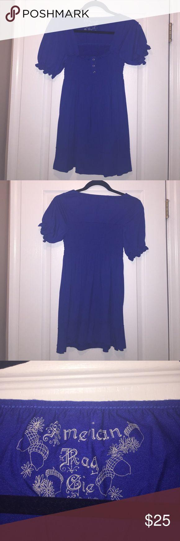Royal blue American rag shirt Royal blue American rag shirt size medium.  Cute sleeves flares out on bottom. American Rag Tops Blouses