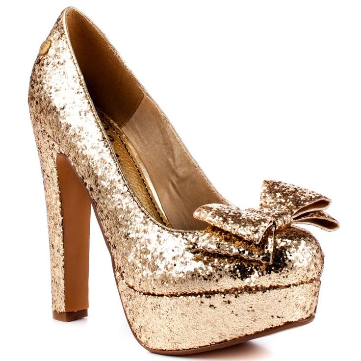 Glitter Bow Platform Heels / Elektraa