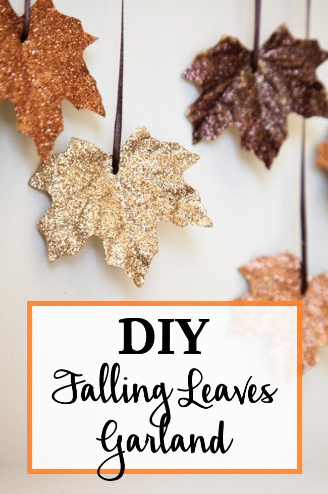 Glistening Falling Leaves Make A Delightful Garland