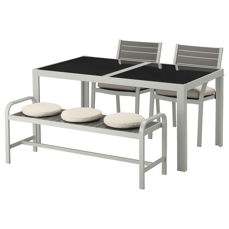 SJÄLLAND, Tisch+2 Stühle+Bank/außen, Glas, Beige Jetzt Bestellen Unter:  Https://moebel.ladendirekt.de/garten/gartenmoebel/gartenmoebel Set/?uidu003d04fac0e5   ...