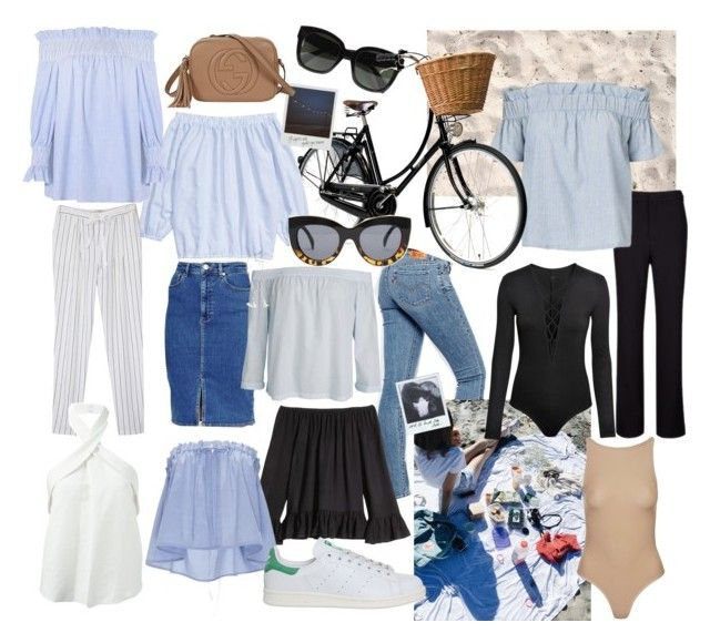 """""""Summer in Denmark"""" by fiejust on Polyvore featuring TIBI, Levi's, Isabel Marant, ASOS, CÉLINE, H&M, E L L E R Y, Topshop, adidas and Gucci"""