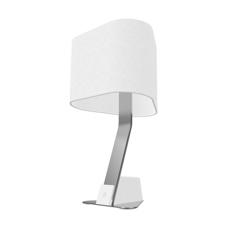 The Brooklyn LED Desk Light pairs the understated modern curves of the Brooklyn line with the functionality of two universal AC sockets (compatible with US, UK, EURO, and other international plugs), and two USB ports. The fine linen shade offers a sleek and elegant finish to compliment the lines of the aluminum extrusion. The lamp also features a hidden threaded mount for additional stability and security.