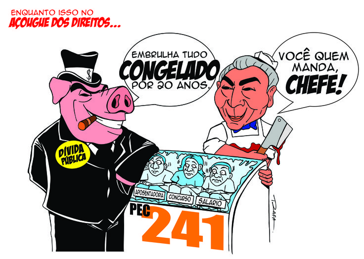 Dia Nacional de Lutas dos Servidores Públicos contra a PEC 241 acontece em 24/10