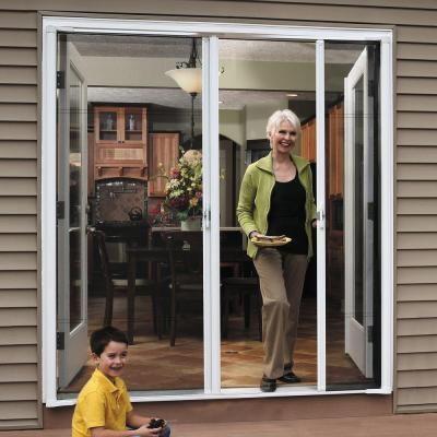 ODL Brisa White 72 in. x 78 in. Short Height Double Door Kit Retractable Screen Door-BRDDSHWE - The Home Depot