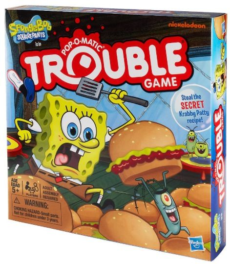 Trouble Board Game SpongeBob Square Pants Edition (& Giveaway Ends 12/24) @