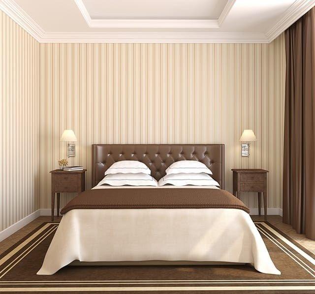 Warna Cat Kamar Tidur Perpaduan Warna Cokelat Dan Putih Kesan Klasik Modern Brown Bedroom Master Bedroom Colors Small Master Bedroom Luxury bedroom paint colors cat