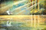 Урок рисования пастелью - Утренний свет