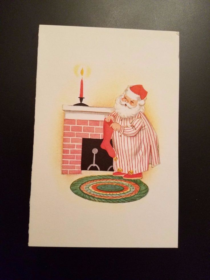 Beautiful Vintage Christmas Greeting Card Santa Stocking Fireplace Norcross FOR SALE • $1.95 • See Photos!  EXCELLENT VINTAGE CHRISTMAS GREETING CARD JUST IN TIME FOR THE HOLIDAYS SEE OTHER CHRISTMAS ITEMS LISTED CHECK OUT OUR STORE AND SEE OUR MULTIPLE LISTINGS WE COMBINE SHIPPING ON MULTIPLE 182864493373