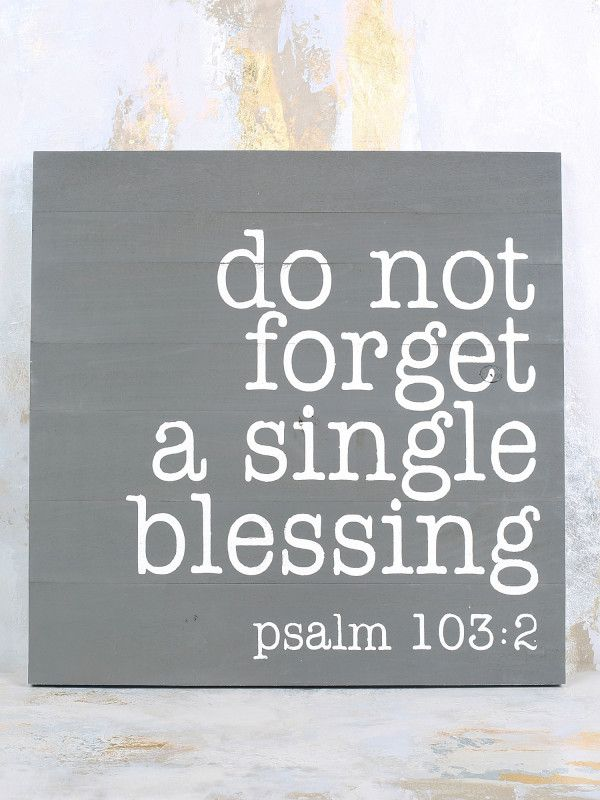 Psalm 103:2 Box Sign - Gifts/Home Decor