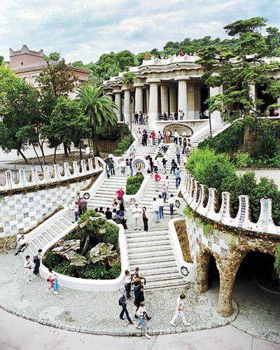 ELLE DECOR Goes to Barcelona    Parc Guell, designed by Gaudi.: Favorite Places, Elle Decor, Park Güell, Culture Travel, Crui, Gaudi Parc, Parc Guell, I'M, Barcelona Spain