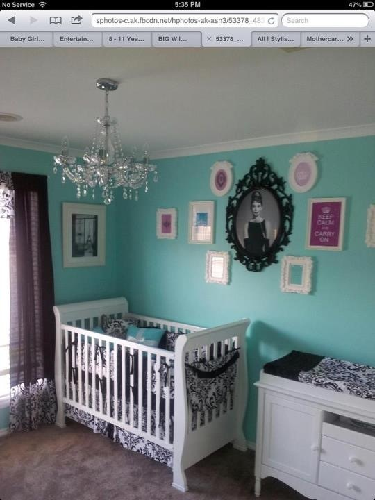 Tiffany and co. Baby room. I just really love the color