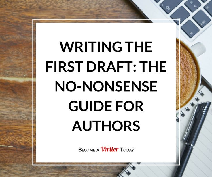how to write a good draft novel