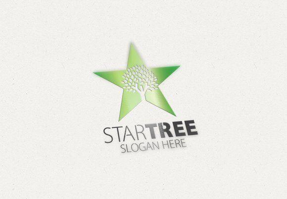Star Tree Logo by eSSeGraphic on @creativemarket