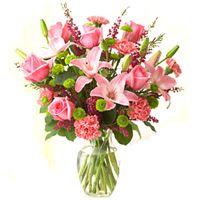 Royal arrangement of Lilies, Roses and Carnations  to Bangalore, Karnataka Rs. 1104 / USD 18.40