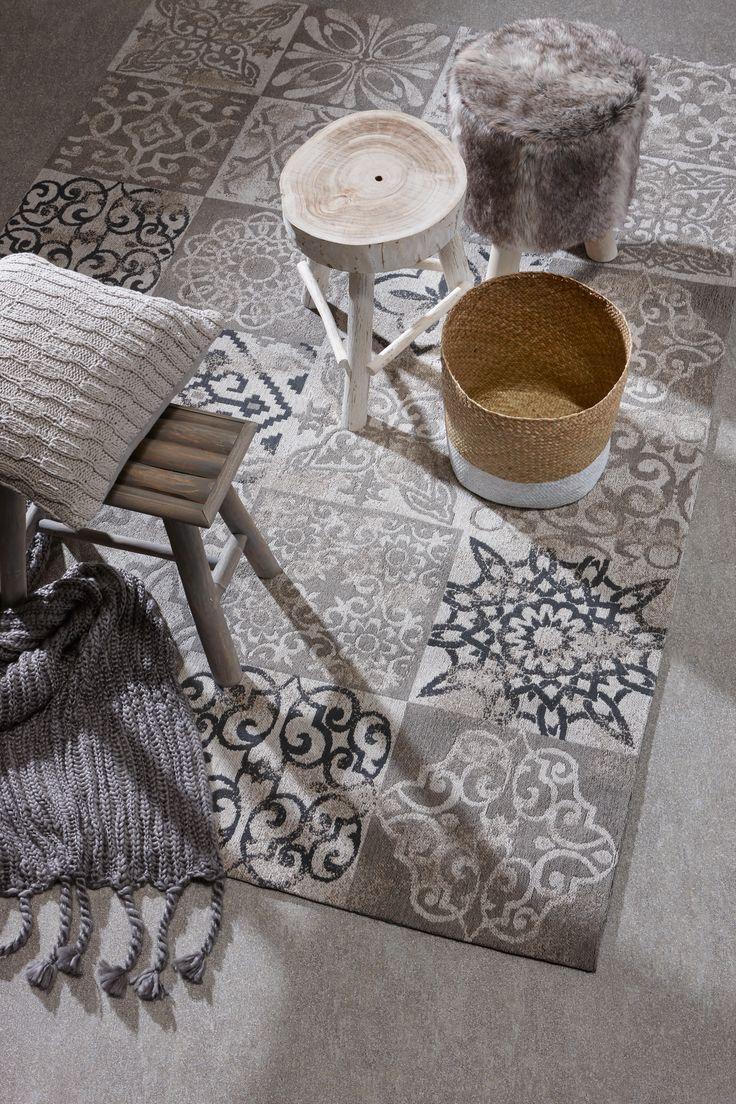 Sfeer op de vloer met patronen: vloerkleed Moosic #kwantum #vloerkleed  #wonen #interieur