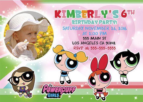 Powerpuff Girls Birthday Invitation by BogdanDesign on Etsy