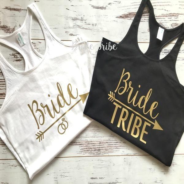 Bridesmaid tank tops, bride tank, bridesmaid singlets, bride tribe tank top, bride tribe singlets