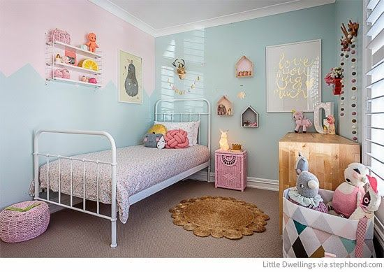 pink and gold kids room - Google Search