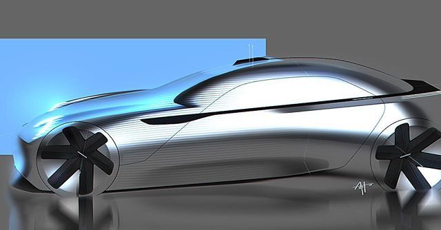 Porscha? #cardesign #design #deadbrush #transportation #car #draw #drawing #metalreflection