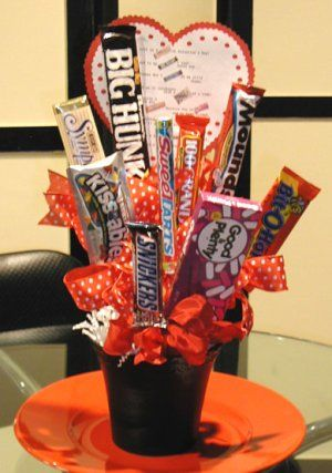 Valentine's Day DIY Candy Gram Bouquet