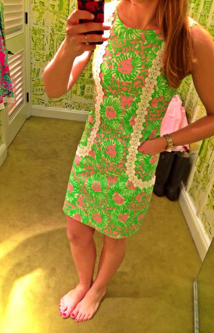 Lilly Pulitzer- finally something at a decent length! Most of their dresses I've seen are extremely short.