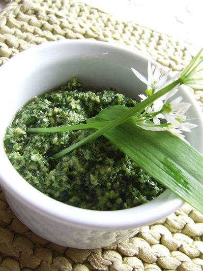 stella di sale | Pesto di menta, aglio orsino, basilico