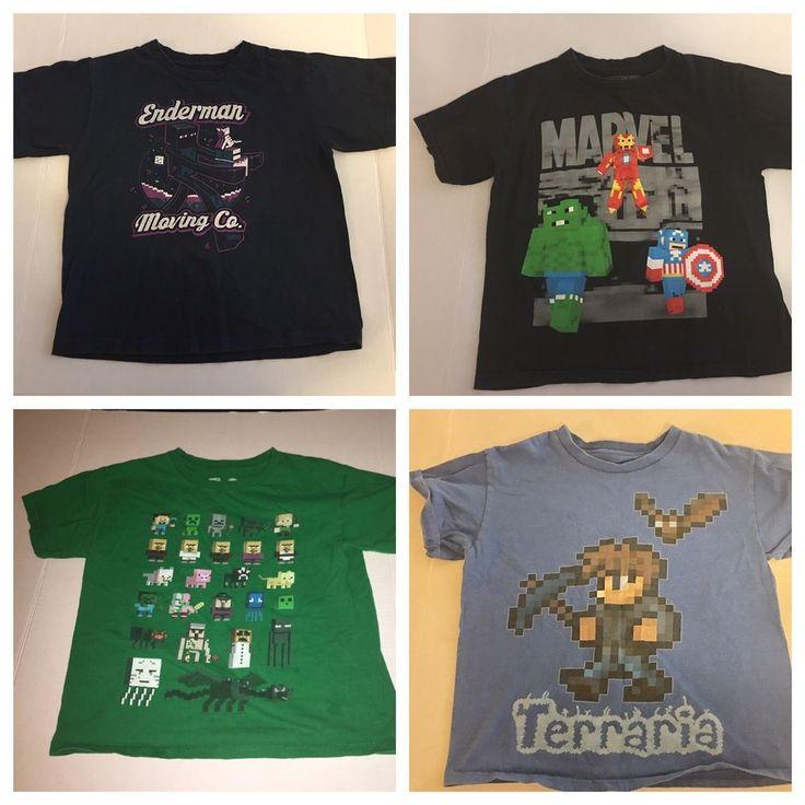 Kids size S/M Minecraft, Marvel & Terraria Shirts #Everyday