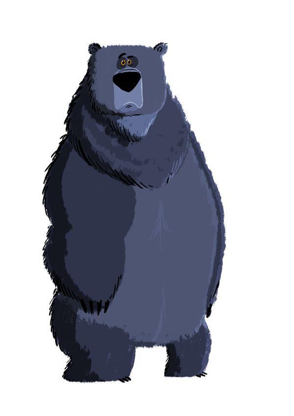 Днем, медведь рисунки прикольные