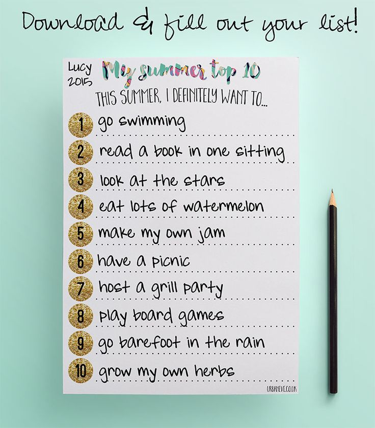 When spending the whole summer working burned me out by September, I vowed to make a change. So I created the Summer Top 10 list to balance work and recharging. Create your own with my free printable list!