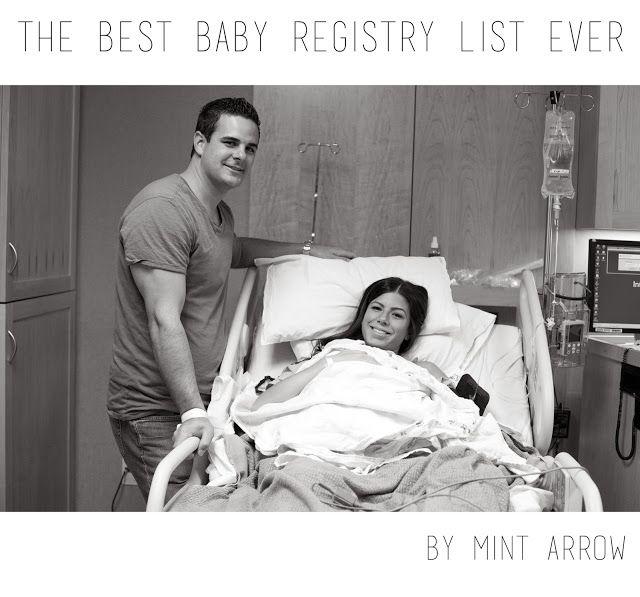 mint arrow: the BEST baby registry list ever!