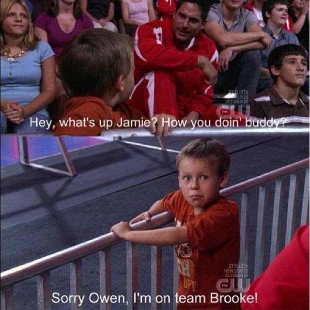 """Sorry Owen, I'm on team Brooke!"""