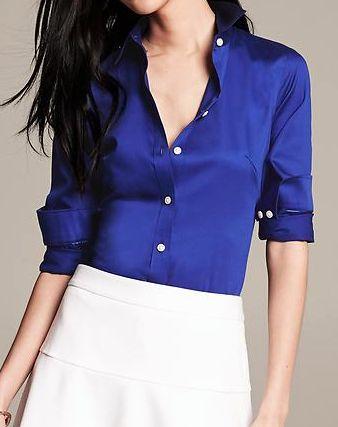 royal blue sateen shirt  http://rstyle.me/n/p82x6pdpe