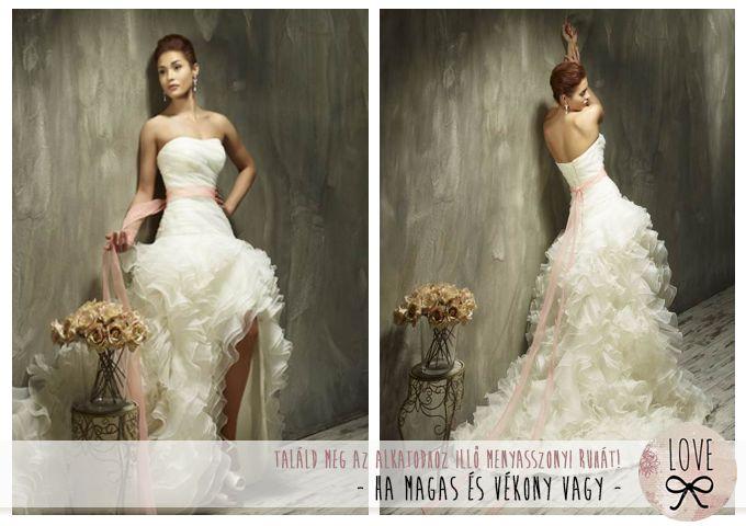 LOVE Esküvői Ruhaszalon - Így válassz az alkatodhoz illő ruhát - 1. rész - Ha magas és vékony vagy