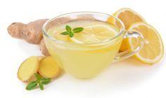 Heißes Wasser mit Ingwer, Zitrone & Honig gegen Erkältung