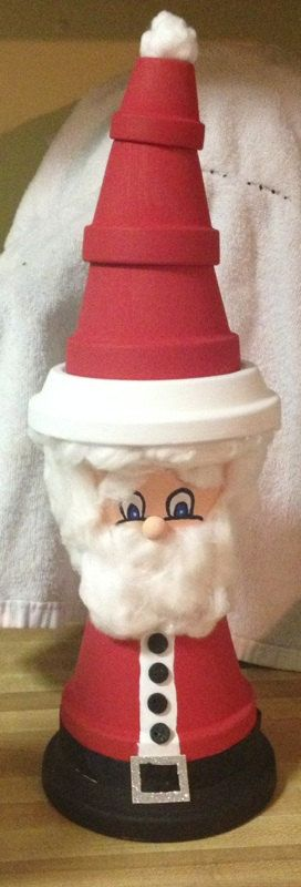 Santa Claus Clay pot