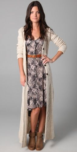 What a neat way to take summer dresses into fall!
