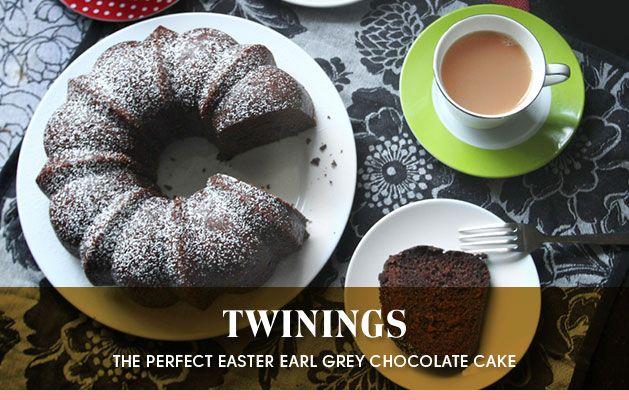 Earl Grey Chocolate Cake  via Twinings Home of Premium Tea - How much do you love Earl Grey