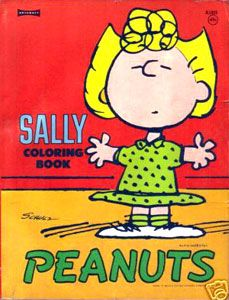 peanuts coloring book featuring sally 1972 - Peanuts Coloring Book