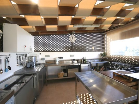 Commercial Kitchen At A Luxury Villa In Aphrodite Hills