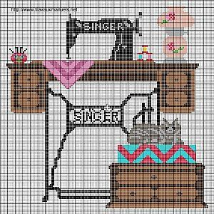 Cross Stitch - Singer sewing machine
