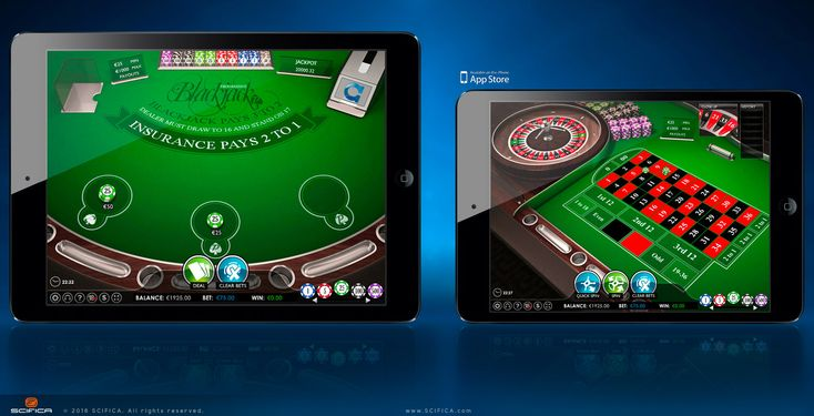 Casino Poker Table And Roulette Mobile Game